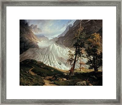 Grindelwald Glacier Framed Print