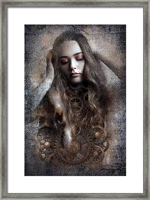 Grinding Woman Framed Print