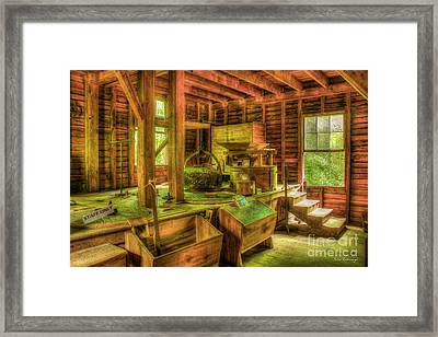 Grindingworks Mingus Mill Great Smoky Mountains Art Framed Print