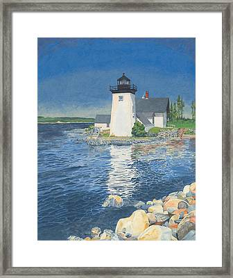Grindle Point Light Framed Print