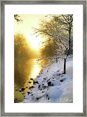 Grings Mill Fog 010 Framed Print by Scott McAllister