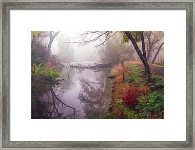 Grings Mill Fog 015 Framed Print