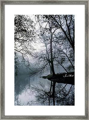 Grings Mill Fog 1043 Framed Print