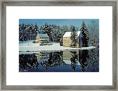 Grings Mill Snow 001 Framed Print