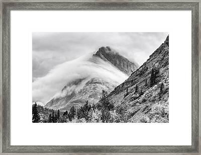 Grinnel Point Black And White Framed Print by Mark Kiver