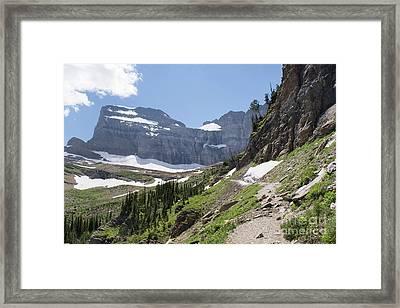 Grinnell Glacier Trail - Glacier National Park Framed Print