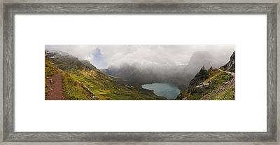 Grinnell Glacier Trail Panorama Framed Print by Mark Kiver