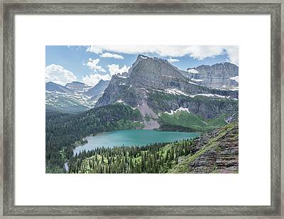 Grinnell Lake From Afar Framed Print