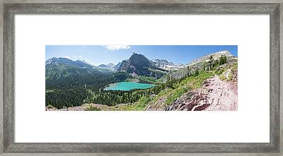Grinnell Lake Panoramic - Glacier National Park Framed Print