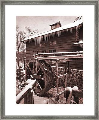 Grist Mill At Siver Dollar City Framed Print