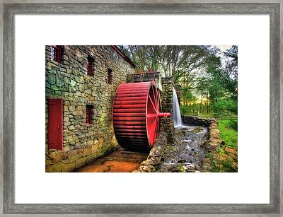 Grist Mill In Autumn Framed Print
