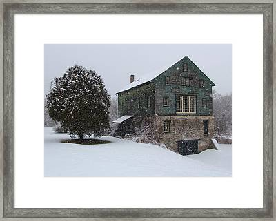 Grist Mill Of Port Hope Framed Print