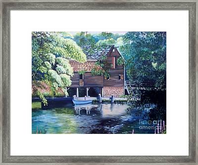 Grist Mill Philipsburg N Y Framed Print