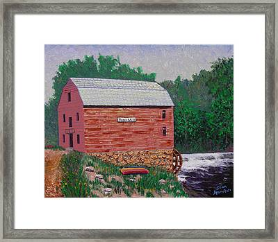 Grist Mill Framed Print by Stan Hamilton