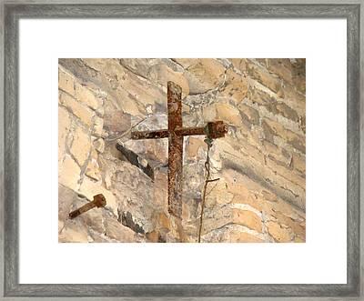 Gristmill Cross Two Framed Print by Ana Villaronga