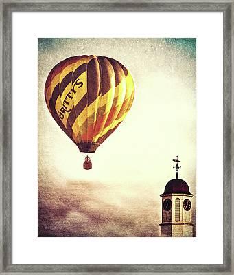 Gritty Mcduffs Hot Air Balloon Framed Print by Bob Orsillo