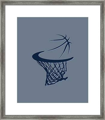 Grizzlies Basketball Hoop Framed Print by Joe Hamilton