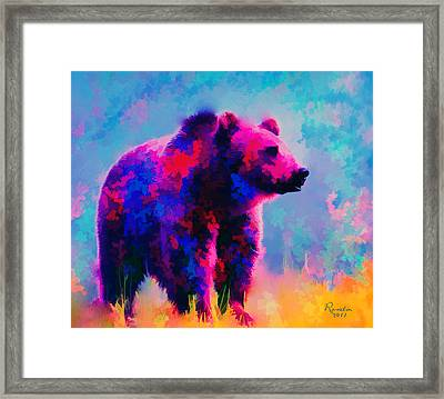 Grizzly Bear  Framed Print by Rosalina Atanasova