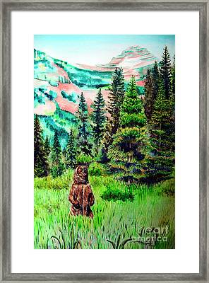 Grizzly Country Framed Print by Tracy Rose Moyers