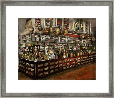 Grocery - Edward Neumann - The Groceries 1905 Framed Print by Mike Savad