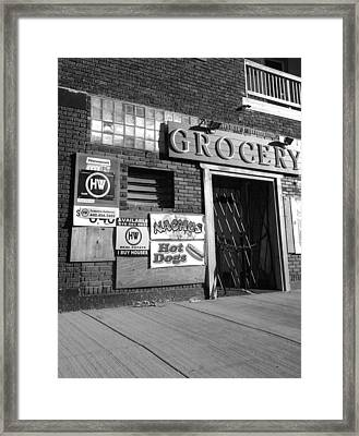 Grocery Past Framed Print
