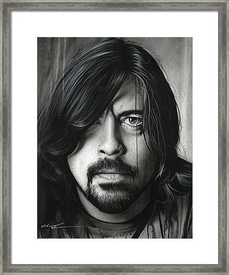 Dave Grohl - ' Grohl In Black II ' Framed Print by Christian Chapman Art
