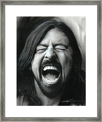 Dave Grohl - ' Grohl In Black IIi ' Framed Print by Christian Chapman Art
