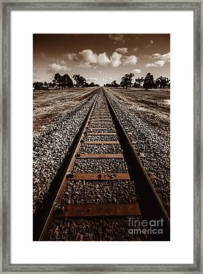 Grong Grong Train Track Framed Print by Jorgo Photography - Wall Art Gallery
