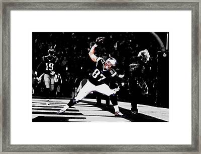 Gronk Framed Print by Brian Reaves