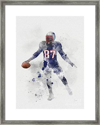 Gronk Framed Print by Rebecca Jenkins