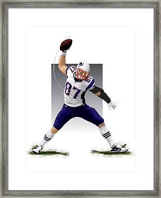Gronk Framed Print by Scott Weigner