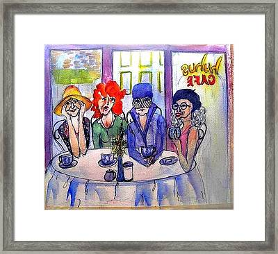 Groovey Old Ladies Framed Print