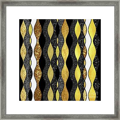 Groovy, Baby Modern Take On A Retro 1960s Design Framed Print by Tina Lavoie