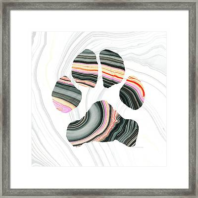 Groovy Dog Paw - Sharon Cummings  Framed Print