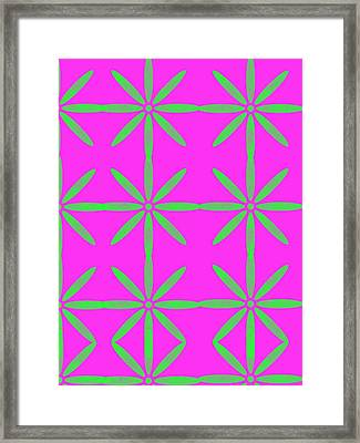 Groovy Flowers Framed Print