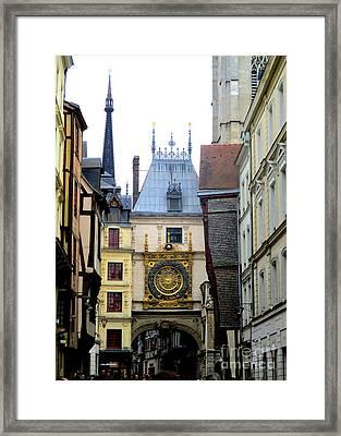 Gros Horloge 1 Framed Print by Randall Weidner