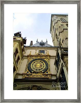 Gros Horloge 13 Framed Print by Randall Weidner