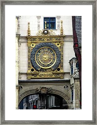 Gros Horloge 2 Framed Print by Randall Weidner