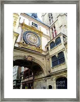 Gros Horloge 6 Framed Print by Randall Weidner