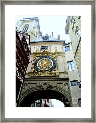 Gros Horloge 9 Framed Print by Randall Weidner