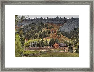 Gros Ventre River Ranch Framed Print