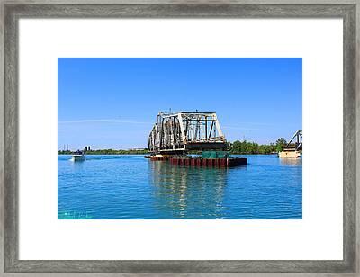 Grosse Ile Toll Bridge Framed Print