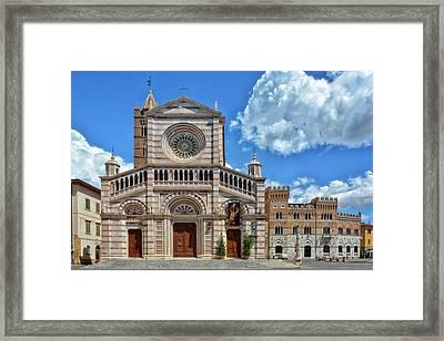 Grosseto Cathedral Framed Print by Joachim G Pinkawa