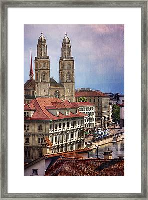 Grossmunster In Zurich Framed Print by Carol Japp
