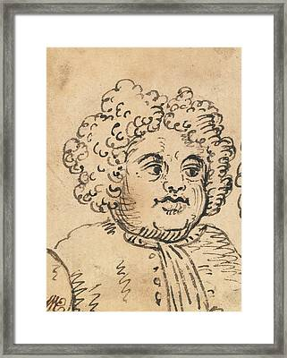 Grotesque Male Head Framed Print