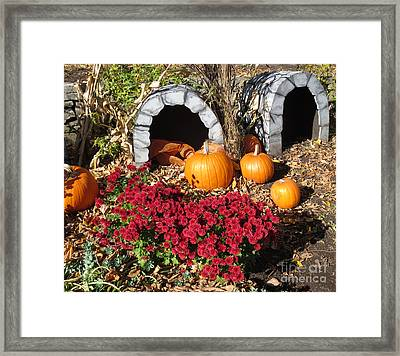 Grottes D'halloween / Halloween Grottos Framed Print by Dominique Fortier