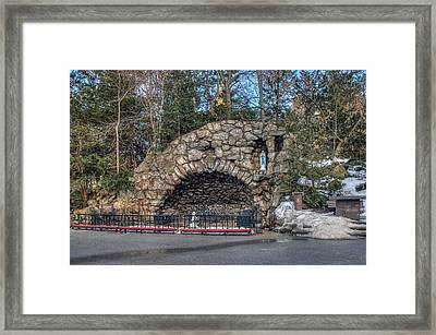 Grotto At Notre Dame University Framed Print