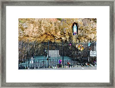 Grotto At San Xavier Mission - Tucson Arizona Framed Print by Jon Berghoff