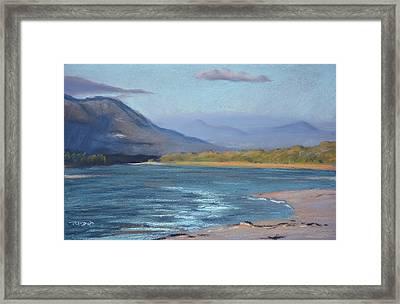 Grotto Beach Lagoon Framed Print by Christopher Reid