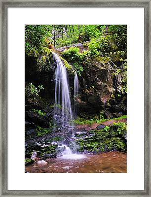 Grotto Falls Framed Print by Thomas Schoeller